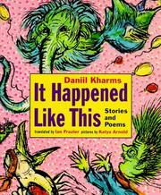 Cover of: It happened like this