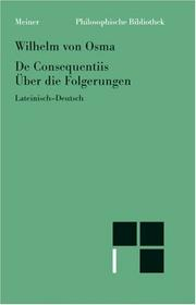 Cover of: De consequentiis =