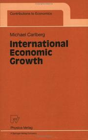 Cover of: International Economic Growth (Contributions to Economics)