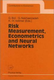 Cover of: Risk measurement, econometrics, and neural networks