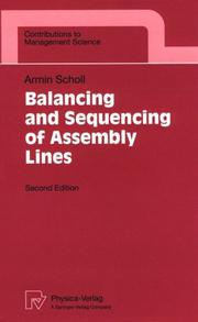 Cover of: Balancing and sequencing of assembly lines