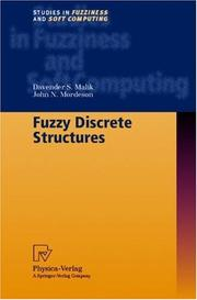 Cover of: Fuzzy discrete structures