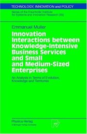Cover of: Innovation Interactions between Knowledge-Intensive Business Services and Small and Medium-Sized Enterprises
