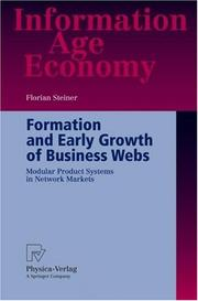 Cover of: Formation and early growth of business webs | Florian Steiner