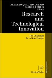 Cover of: Research and Technological Innovation by