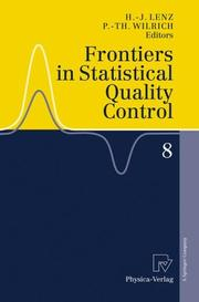 Cover of: Frontiers in Statistical Quality Control 8 |