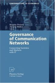 Cover of: Governance of Communication Networks |