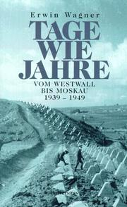 Cover of: Tage wie Jahre