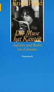 Cover of: Die Muse hat Kanten