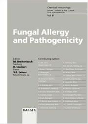 Cover of: Fungal Allergy and Pathogenicity (Chemical Immunology) | Michael Breitenbach