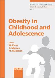 Cover of: Obesity in Childhood and Adolescence (Pediatric and Adolescent Medicine) |