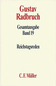 Cover of: Reichstagsreden