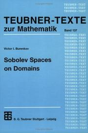 Cover of: Sobolev spaces on domains