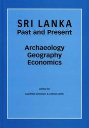 Cover of: Sri Lanka - Past and Present |