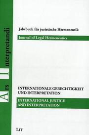 Cover of: International Justice and Interpretation | Giuseppe Zaccaria