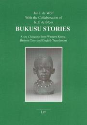 Cover of: Beiträge zur Afrikanistik, Bd. 17: Bukusu stories: sixty Chingano from Western Kenya. Bukusu texts and English translations