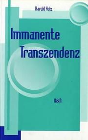 Cover of: Immanente Transzendenz