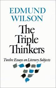 Cover of: The triple thinkers