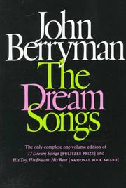 Cover of: The Dream Songs