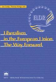 Cover of: Liberalism in the European Union |