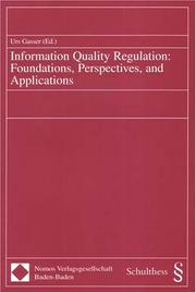 Cover of: Information Quality Regulation
