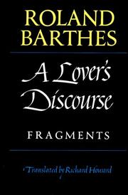 Cover of: A Lover's Discourse: fragments