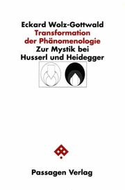 Cover of: Transformation der Phänomenologie