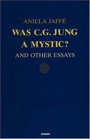 Cover of: Was C. G. Jung a Mystic | Aniela Jaffe