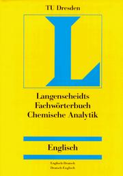 Cover of: Dictionary Analytical Chemistry | Technische Universitat Dresden