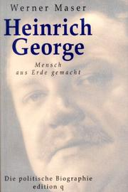 Cover of: Heinrich George