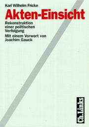 Cover of: Akten-Einsicht