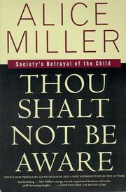 Cover of: Thou Shalt Not Be Aware |