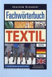 Cover of: Fachwörterbuch Textil