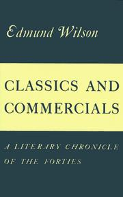 Cover of: Classics and Commercials | Edmund Wilson