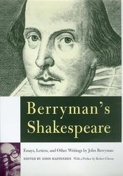 Cover of: Berryman's Shakespeare