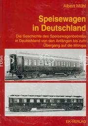 Cover of: Speisewagen in Deutschland