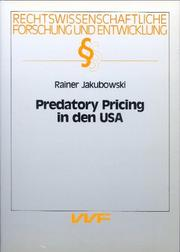 Cover of: Predatory pricing in den USA