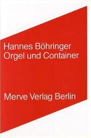 Cover of: Orgel und Container