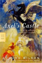 Cover of: Axel's castle
