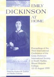 Cover of: Emily Dickinson at home | Emily Dickinson International Society