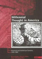 Cover of: Millennial thought in America