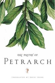 Cover of: The poetry of Petrarch
