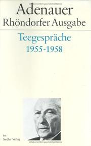 Cover of: Teegespräche 1955-1958