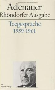 Cover of: Teegespräche 1959-1961