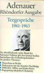 Cover of: Teegespräche 1961-1963