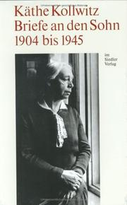 Cover of: Briefe an den Sohn, 1904 bis 1945