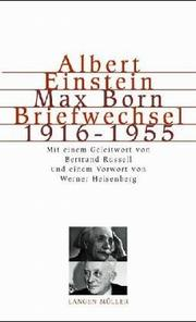 Cover of: The Born-Einstein letters