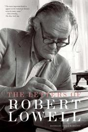 Cover of: The Letters of Robert Lowell