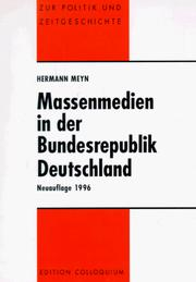 Massenmedien in der Bundesrepublik Deutschland by Hermann Meyn