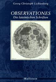 Cover of: Observationes